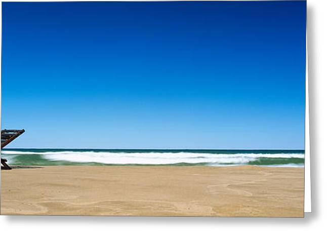 One Object Greeting Cards - Beach Chair On The Beach, Grand Haven Greeting Card by Panoramic Images