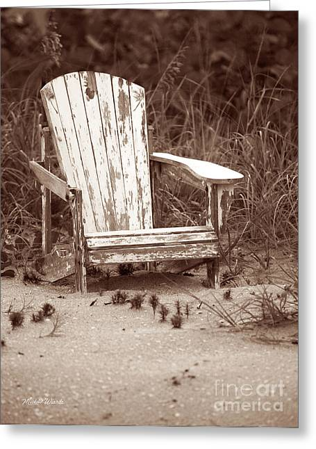 Beach Photography Greeting Cards - Beach Chair with Pineapple Greeting Card by Michelle Wiarda
