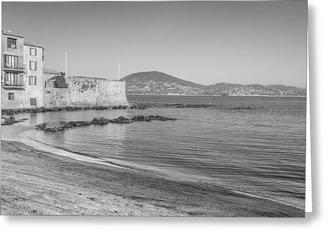 St.tropez Greeting Cards - Beach Greeting Card by Christian Baumgart