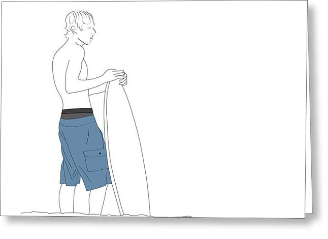 Amusements Greeting Cards - Beach Collection Dude Greeting Card by Marti Snider