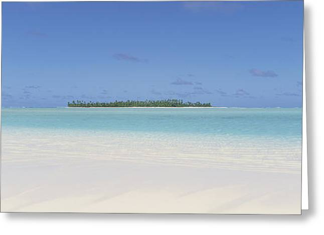 Horizon Over Water Greeting Cards - Beach, Cook Islands Greeting Card by Panoramic Images