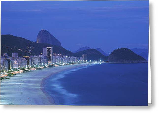 Faint Greeting Cards - Beach, Copacabana, Rio De Janeiro Greeting Card by Panoramic Images