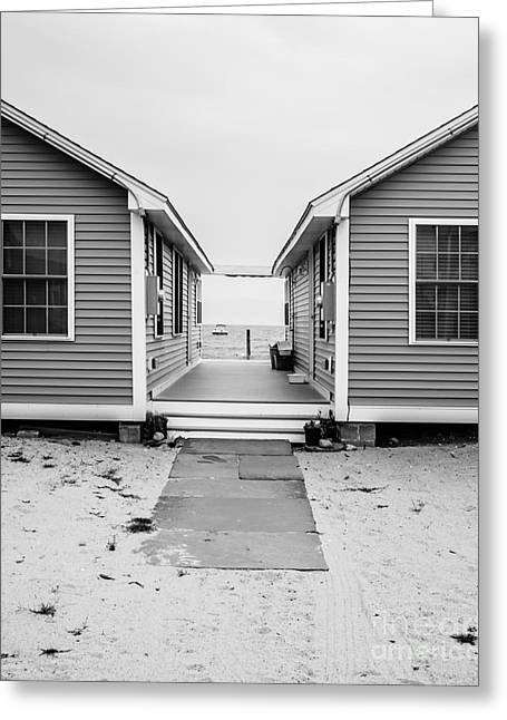Saybrook Greeting Cards - Beach Cottages Greeting Card by Edward Fielding