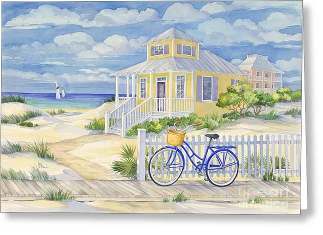 Fence Greeting Cards - Beach Cruiser Greeting Card by Paul Brent