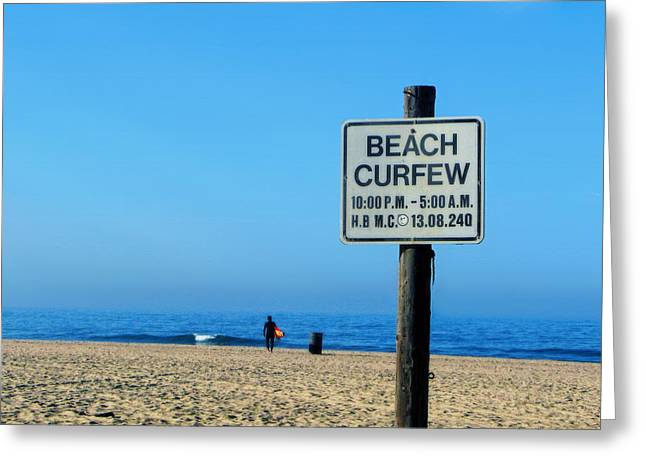 Tammy Espino Greeting Cards - Beach curfew Greeting Card by Tammy Espino