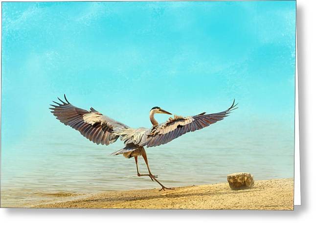 Tennessee River Greeting Cards - Beach Dancing Greeting Card by Jai Johnson