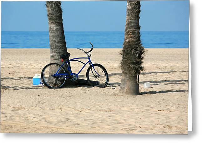 Venice Beach Palms Greeting Cards - Beach Day Greeting Card by Art Block Collections