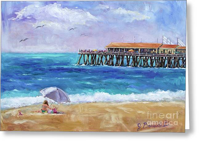 California Artist Greeting Cards - Beach Day Greeting Card by Jennifer Beaudet