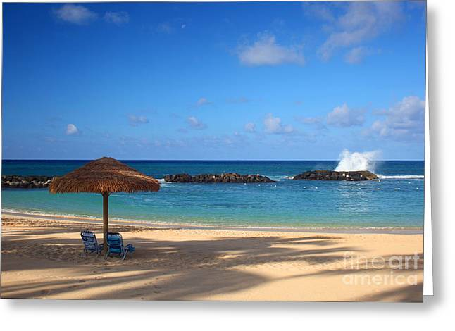 Ko Olina Lagoon Greeting Cards - Beach Day Greeting Card by Junko T Russell