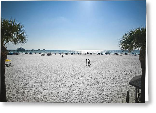 Beach Day Over Greeting Card by Carolyn Marshall
