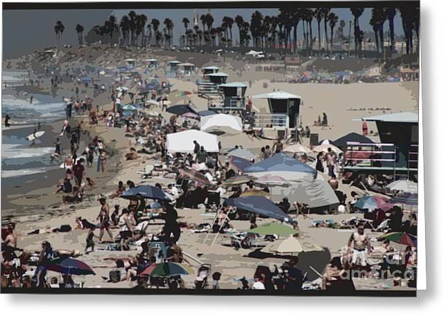 Pch Digital Art Greeting Cards - Beach Day Greeting Card by RJ Aguilar