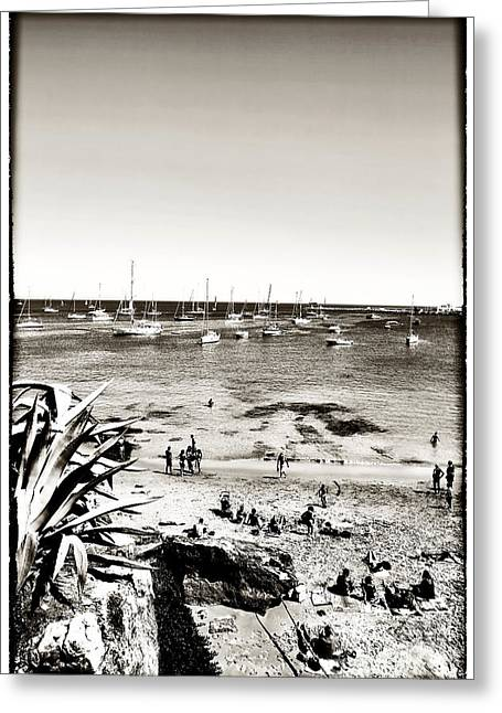 Sailboat Photos Greeting Cards - Beach Days at Cascais Greeting Card by John Rizzuto