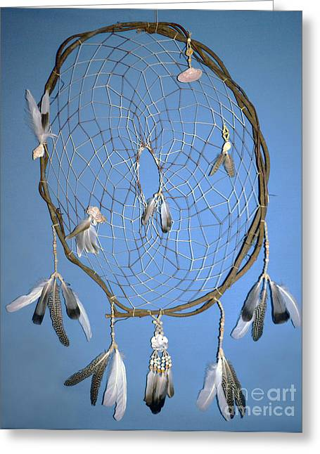 Dream Tapestries - Textiles Greeting Cards - Beach Dream Catcher Greeting Card by Michelle White