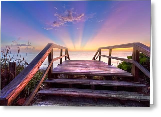 Beach Dreams Greeting Card by Debra and Dave Vanderlaan