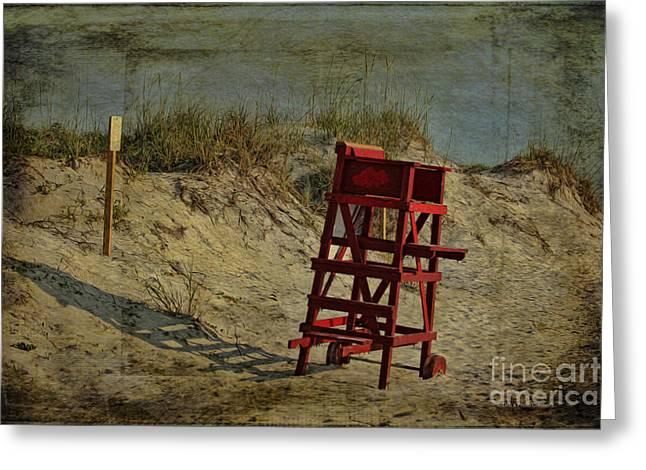 Dunes Mixed Media Greeting Cards - Beach Dune Greeting Card by Deborah Benoit