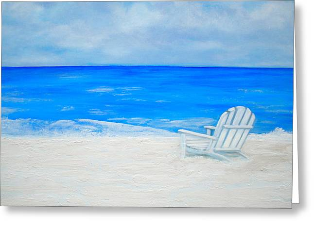 Relaxing Mixed Media Greeting Cards - Beach Escape Greeting Card by Debi Starr