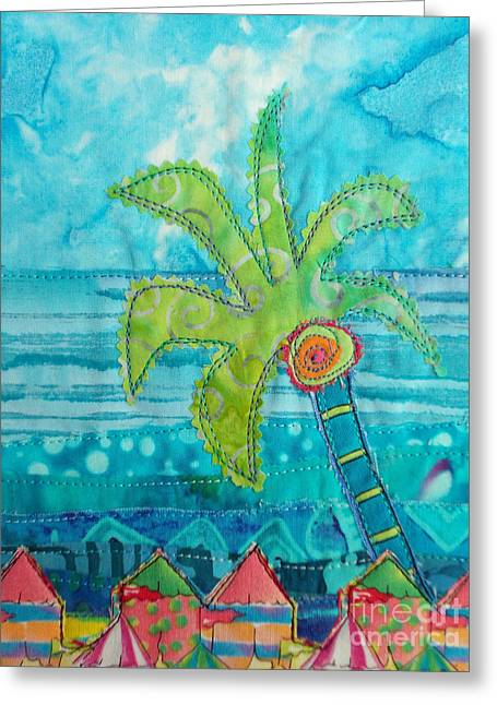 Beach Landscape Tapestries - Textiles Greeting Cards - Beach Fest Greeting Card by Susan Rienzo