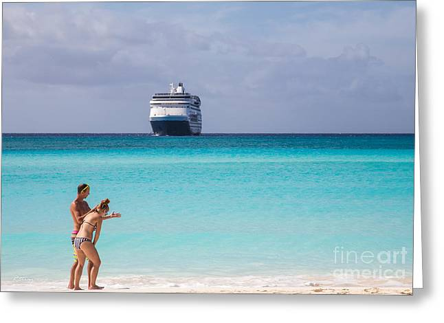 Toy Boat Greeting Cards - Beach Frolic Greeting Card by Rene Triay Photography