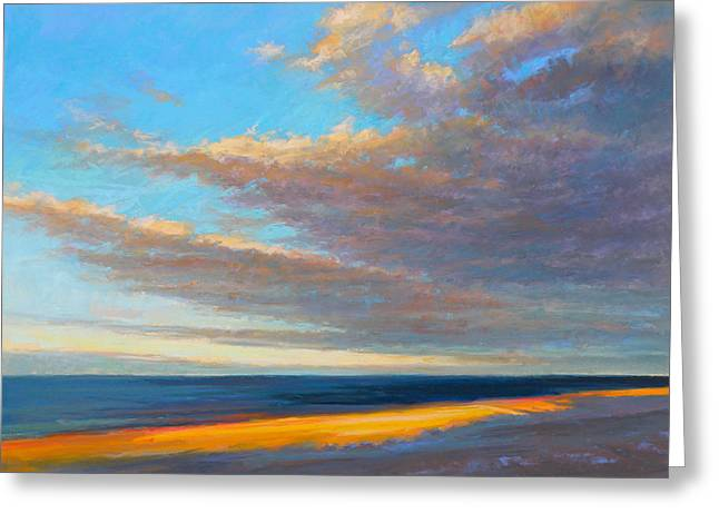 Storm Clouds Cape Cod Greeting Cards - Beach Front Greeting Card by Ed Chesnovitch