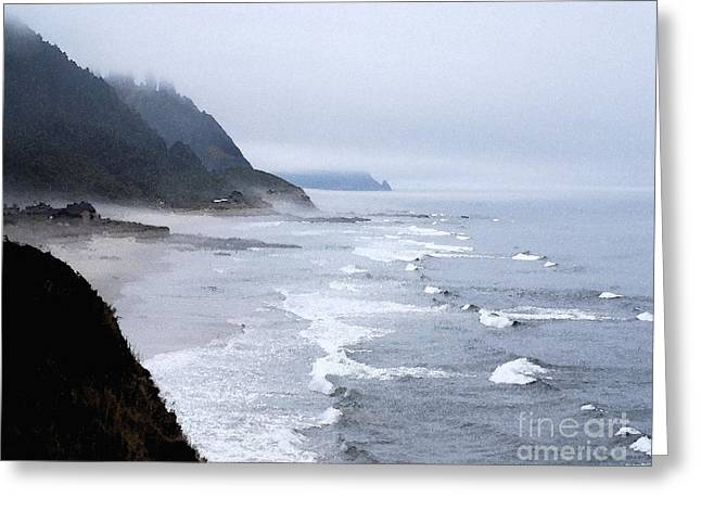 Pacific Ocean Prints Greeting Cards - Beach Frontage in Monet Greeting Card by Sharon Elliott