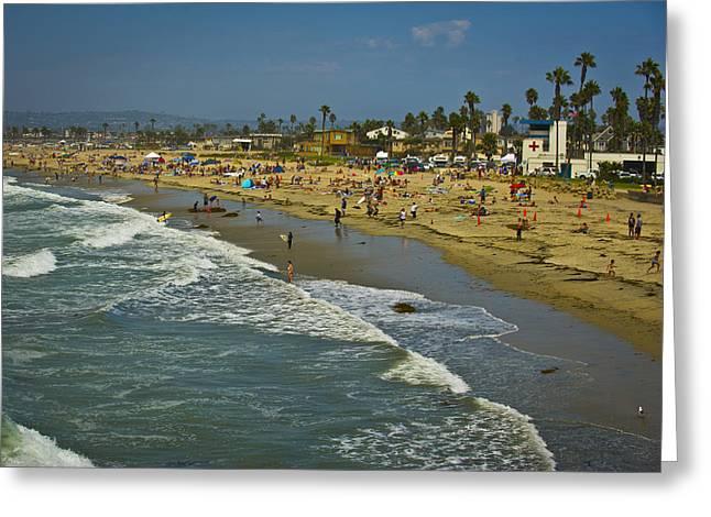 California Beach Scene Greeting Cards - Beach Fun Greeting Card by Chelsea Stockton