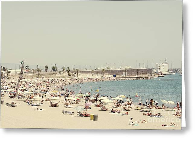 Sunbathing Greeting Cards - Beach holiday Greeting Card by Ivy Ho