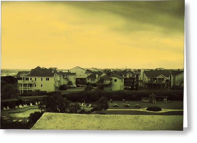 Ocean Art Photos Greeting Cards - Beach Homes Greeting Card by J Riley Johnson