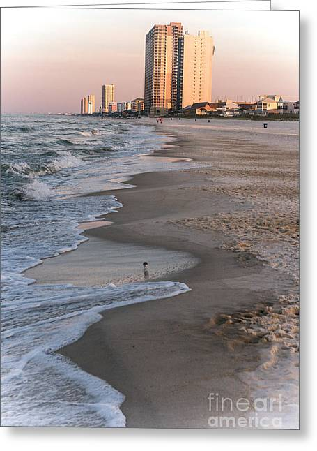 Panama City Beach Greeting Cards - Beach Hotel Greeting Card by Allen Simmons