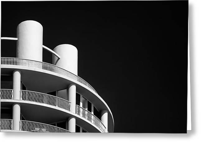 Semi-abstract Greeting Cards - Beach Hotel Greeting Card by Dave Bowman