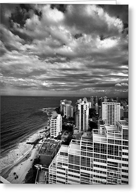 Shoreline Greeting Cards - Beach Hotels San Juan Puerto Rico Greeting Card by Amy Cicconi
