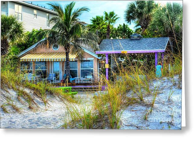 Florida House Greeting Cards - Beach House Greeting Card by Debbi Granruth