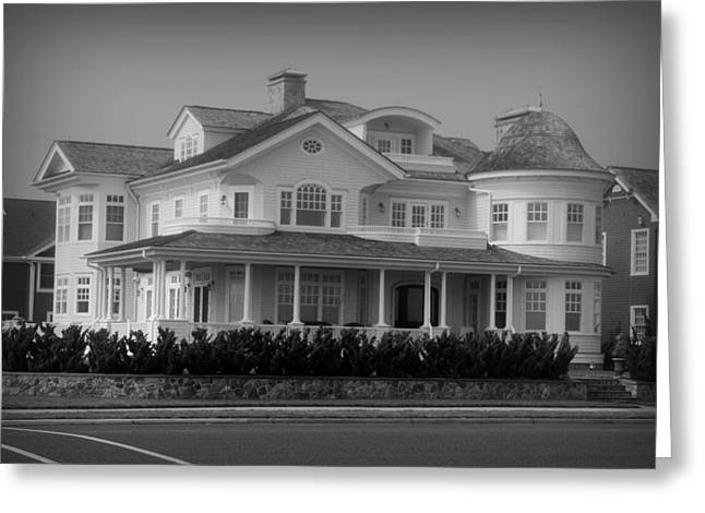 Beach House in Spring Lake - Jersey Shore Greeting Card by Angie Tirado