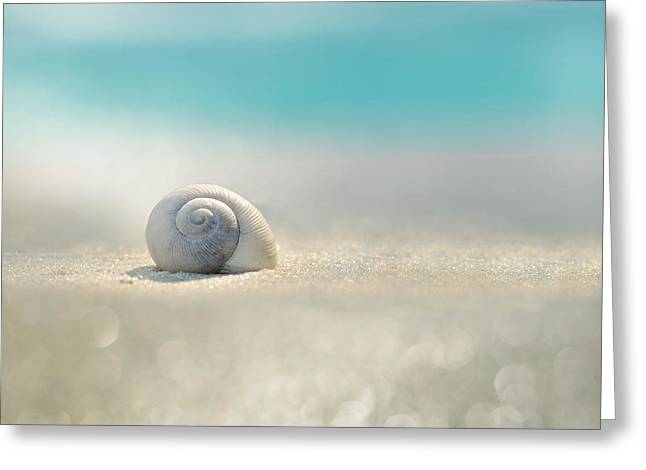 Beach House Greeting Card by Laura Fasulo