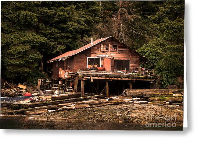 Southeast Alaska Greeting Cards - Beach House Greeting Card by Robert Bales