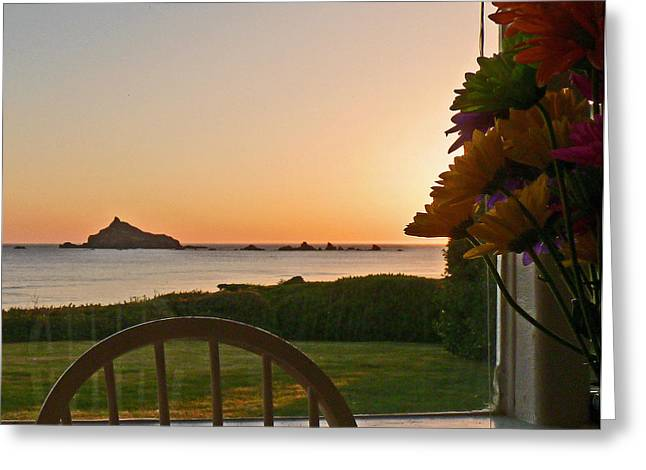 Daughter Gift Greeting Cards - Beach House Sunset Greeting Card by Gracia  Molloy