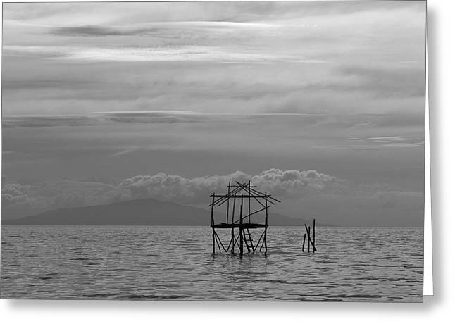 Bamboo House Greeting Cards - Beach House Greeting Card by Trevor Kloeden