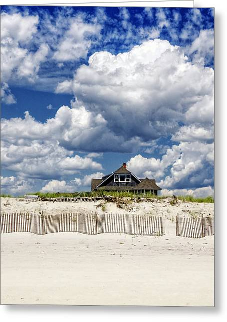 Clapboard House Greeting Cards - Beach House Greeting Card by Vicki Jauron