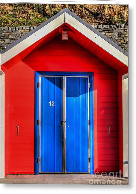 Vale Greeting Cards - Beach Hut 12 Greeting Card by Steve Purnell