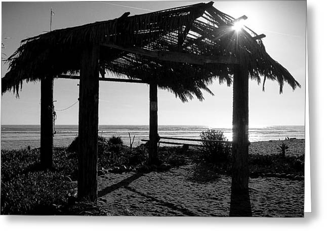 Recently Sold -  - Clemente Greeting Cards - Beach Hut at San Onofre Greeting Card by Richard Cheski