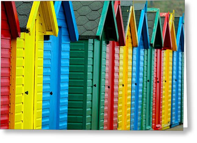 Whittle Greeting Cards - Beach Huts Greeting Card by Chris Whittle