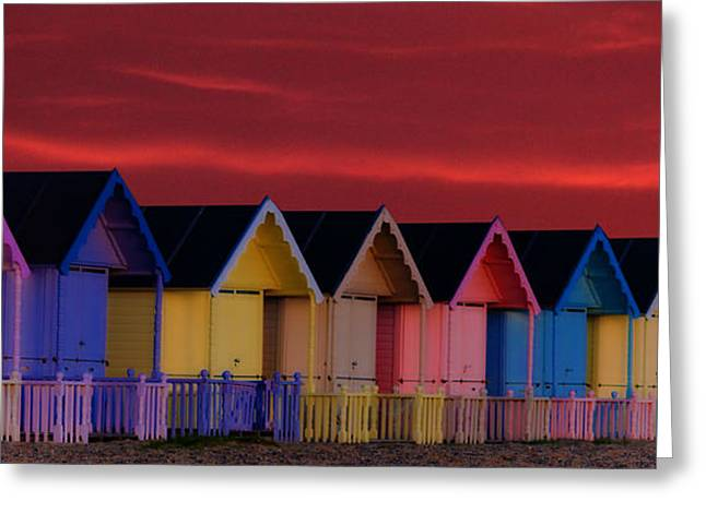 Beach Huts Greeting Cards - Beach Huts Greeting Card by Martin Newman