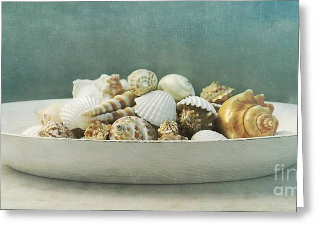 Tabletop Greeting Cards - Beach In A Bowl Greeting Card by Priska Wettstein