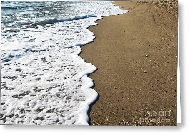 York Beach Greeting Cards - Beach in Montauk New York 2 Greeting Card by Lisa Mahoney
