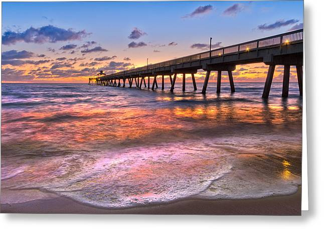 Hobe Sound Greeting Cards - Beach Lace Greeting Card by Debra and Dave Vanderlaan