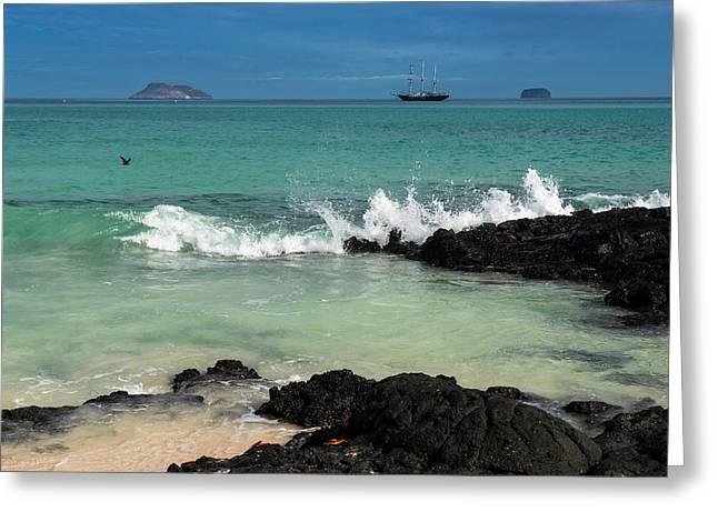 Beach, Las Bachas Santa Cruz Island Greeting Card by Pete Oxford