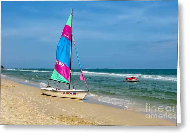 Tropical Beach Digital Greeting Cards - Beach Life Greeting Card by Adrian Evans