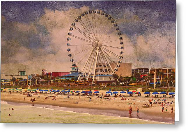 Myrtle Beach Ocean Photography Greeting Cards - Beach Life Greeting Card by Kathy Jennings