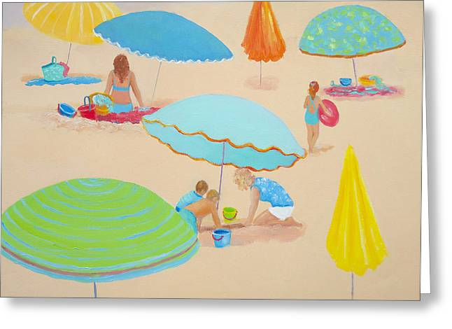 Beach Cottage Style Greeting Cards - Beach Living Greeting Card by Jan Matson