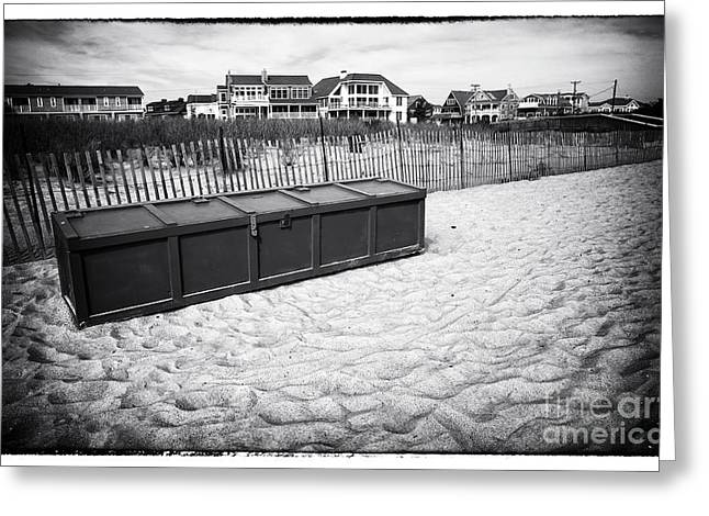 Beach Locker Greeting Card by John Rizzuto