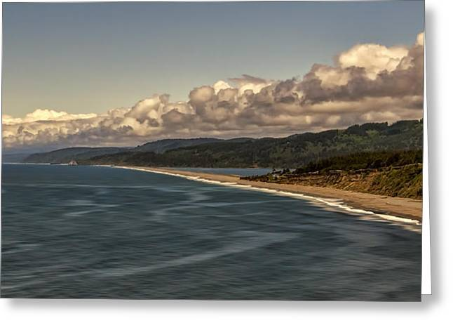 Agate Beach Oregon Greeting Cards - Agate Beach Greeting Card by Maria Coulson